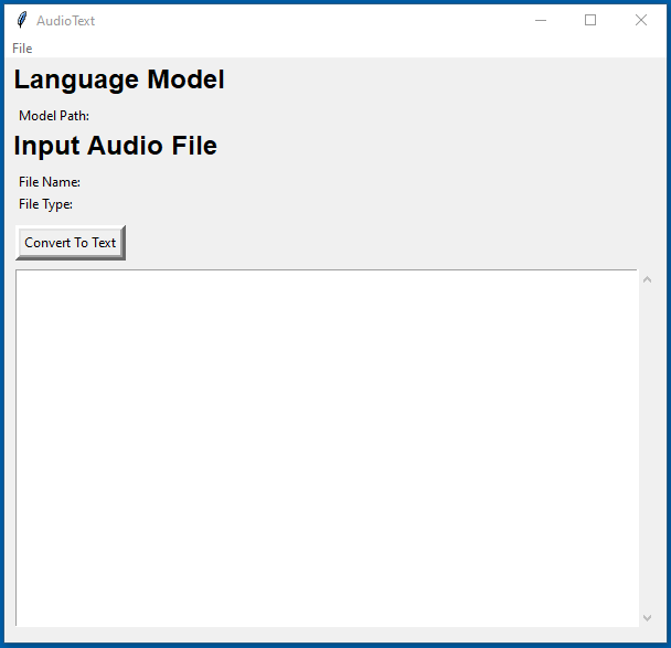 Audio Text program that transcribes podcast files to text.